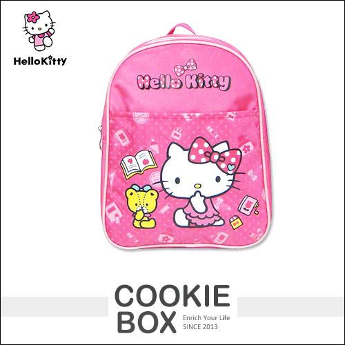 正版 Hello Kitty 凱蒂貓 兒童 單層 書包 (桃) 後背包 護脊 學生 小學 上學 上課 置物 *餅乾盒子*