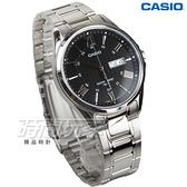CASIO卡西歐 MTP-1384D-1A 世界城市新風範指針男錶 黑x銀 日期/星期顯示 防水手錶 MTP-1384D-1AVDF