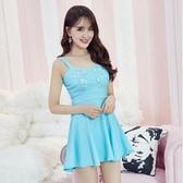 現貨藍色性感夜店裙洋裝28187
