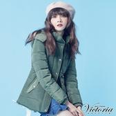 Victoria 緞帶抽腰繩中長版絲棉外套-軍綠-V4514748