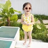 ins韓國可愛兒童泳衣女童裙式公主連身泳裝女孩女寶寶速乾游泳衣 童趣屋
