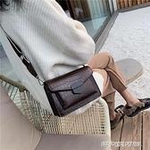 高級質感包包復古女包新款港風時尚鱷魚紋百搭單肩斜挎小方包 傑克型男館