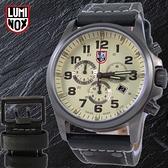 【萬年鐘錶】LUMINOX 雷明時 戰場系列 三眼鬧鈴腕錶 槍管灰x黃 48mm  LM-A1947