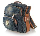 熱銷日韓 丹寧 牛仔包 旅行包 書包 電腦包 肩背手提 斜背 女包 經典款