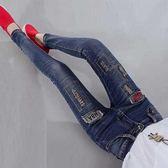 顯瘦彈力小腳長褲子高腰修身加絨加厚刺繡牛仔褲女新款潮13 CY潮流站