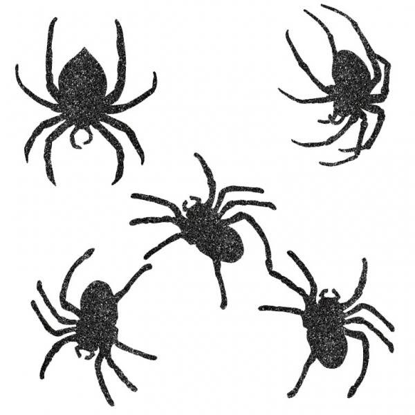 萬聖節 佈置 裝飾 金蔥裝飾紙卡9入-蜘蛛