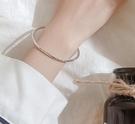 手鐲 手鐲女999純銀網紅韓版簡約個性冷淡風手鏈ins小眾設計輕奢手飾品【快速出貨八折搶購】