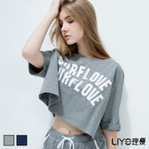 LIYO理優居家圓領寬版純棉T恤L632010