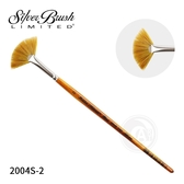 『ART小舖』Silver Brush美國黑天鵝 Golden Natural 2004S 扇形 棕金桿混合毛畫筆 2號 單支