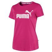 Puma Logo 女 粉 短袖 T恤 棉質 流行系列 運動上衣 短T 休閒 短袖 上衣 85388950