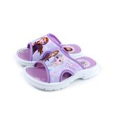 冰雪奇緣 Frozen Elsa Anna 拖鞋 戶外 粉紫色 中童 童鞋 FNKS94757 no715 16~21cm