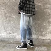 男褲子秋冬季韓版潮流cec直筒牛仔褲男生百搭寬鬆超火闊腿褲 依凡卡時尚