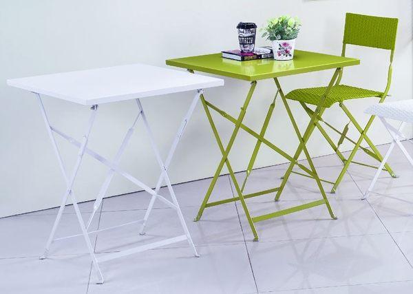 【南洋風休閒傢俱】戶外餐椅-卡翠娜戶外休閒鐵桌 餐桌  折疊桌  收合桌 咖啡桌 JX243-8