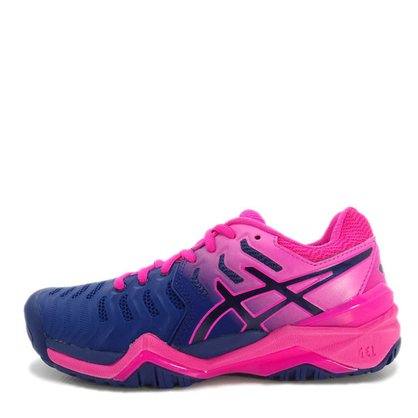 Asics GEL-Resolution 7 [E751Y-400] 女鞋 網球 運動 耐磨 舒適 緩衝 亞瑟士 藍粉