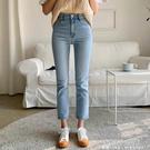 高腰直筒牛仔褲女2021年秋裝新款寬鬆百搭八分九分顯瘦煙管長褲子 夏季狂歡