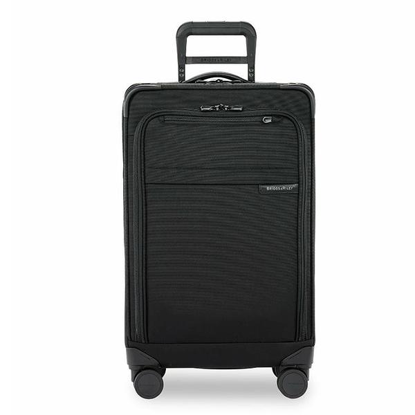 【終身保固 Briggs & Riley 超輕量系列 BRUT125CXSP-4】BASELINE 25吋窄版可擴充TRUNK四輪行李箱(黑)