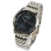【萬年鐘錶】SEIKO PRESAGE 精工4R36 經典都會機械錶  透明底蓋 銀x深藍 39mm   4R36-04L0B(SRP697J1)