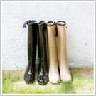 【限郵寄】韓國時尚後緞帶蝴蝶結楔型跟防水...