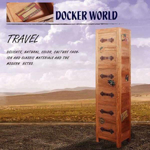 [客尊屋]免運費/典尚古風/Docker World- CD/DVD 6 DraWers 六抽高櫃/書架/置物架/收納架