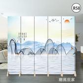 現代簡約屏風隔斷客廳歐式辦公室簡易裝飾行動折疊經濟型布藝折屏MBS『潮流世家』