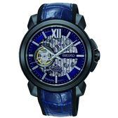 SEIKO Premier  廣告新款喬科維奇限量鏤空機械錶4R71-00B0B 藍