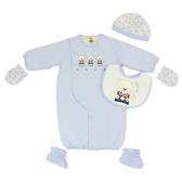 【愛的世界】純棉鋪棉長袖兩用嬰衣禮盒/3~6M-台灣製- ★禮盒推薦