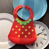 兒童圍兜 兒童圍兜寶寶吃飯兜新生軟硅膠喂飯免洗圍嘴口水兜大號 莎瓦迪卡