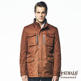 【ST.MALO】科技戰地防寒大衣1609MJ-紅棕色