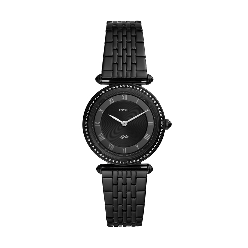 FOSSIL個性羅馬黑鋼腕錶ES4713