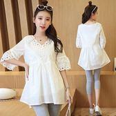 孕婦上衣時尚款韓版寬鬆套短款短袖純棉T恤吾本良品