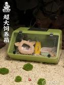 倉鼠籠刺猬飼養箱蜜袋鼯籠斜面全景非洲迷你刺猬保溫箱窩倉鼠籠子過 多色小屋YXS