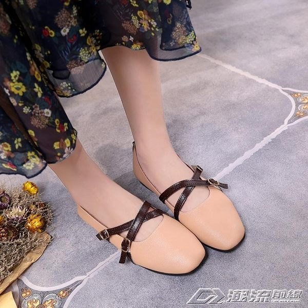 單鞋女春季新款秋復古森女繫娃娃鞋百搭平底韓版奶奶鞋舞蹈鞋   潮流前線