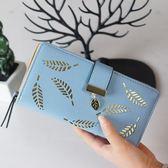 年末鉅惠 2018新款錢包女長款時尚拉鏈搭扣大容量多卡位手拿包皮夾手機包