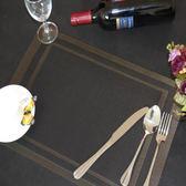 8張裝 西餐廳餐墊回形雙框隔熱防滑PVC 墊特斯林【onecity】