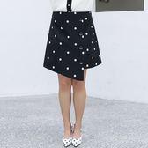 中大尺碼~俏皮波點圖案半身裙(XL~4XL)