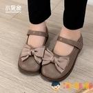 女童皮鞋韓版公主童鞋蝴蝶結鞋子兒童單鞋女寶寶軟底瓢鞋【淘嘟嘟】