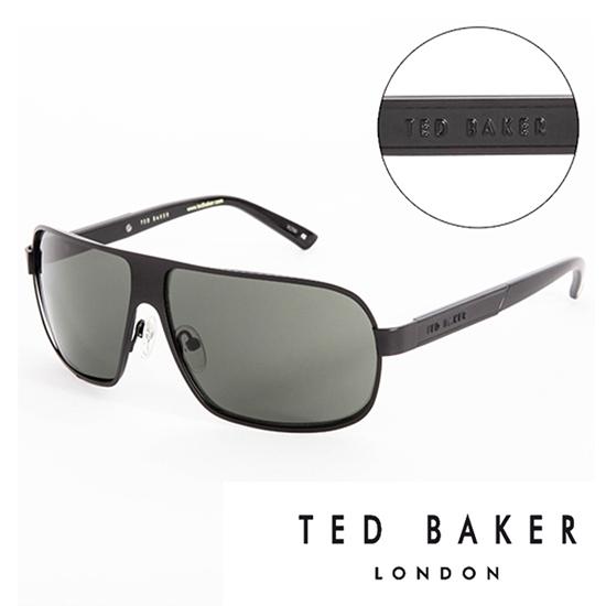 【南紡購物中心】TED BAKER 倫敦個性男士質感造型太陽眼鏡(黑) TB1241001