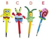 【卡漫城】 海綿寶寶 造型筆 任2隻 ㊣版 絨毛娃娃 公仔 原子筆 皮老闆  蟹老闆 小蝸 SpongeBob