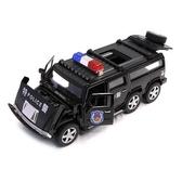 模型車 合金警車玩具 仿真兒童玩具車警察車男孩回力小汽車模型警報聲光【快速出貨八折搶購】