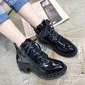 ins女士馬丁靴子女高跟短靴粗跟機車靴英倫切爾西靴 早秋下殺價