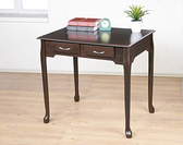 *集樂雅*【DE860】80cm優雅二抽書桌、電腦桌、工作桌、餐桌 (可加購玻璃)