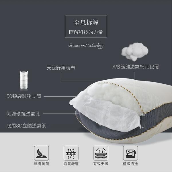 【BEST寢飾】3D天絲獨立筒枕 TENCEL 台灣製造 枕頭 枕心 [超取有出貨限制,詳請參閱內容說明]