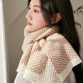 INS風毛線圍巾女秋冬季