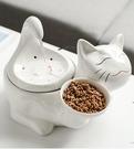 寵物餵食器 寵物貓咪陶瓷飲水器恒溫加熱自動循環流動水貓喝水器喂食器二合一