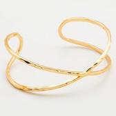 GORJANA  時尚波浪紋鍍金編織手環