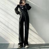 背帶褲 春秋新款韓版寬鬆時尚洋氣減齡顯瘦炸街牛仔背帶褲女長款潮【快速出貨】