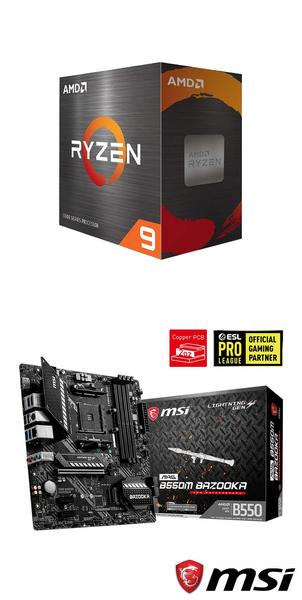 【自組DIY兩件組R56】AMD R5 5600X+微星 B550M BAZOOKA