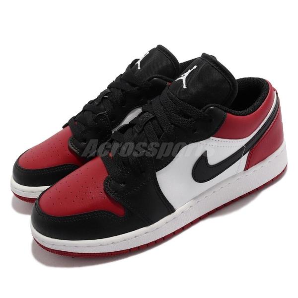 Nike 休閒鞋 Air Jordan 1 Low GS 黑 紅 大童鞋 女鞋 喬丹 AJ1 【ACS】 553560-612