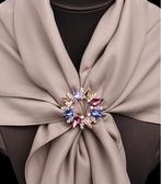 胸針女兩用圓形胸花配飾別針絲巾扣