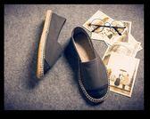 帆布鞋 透氣休閒鞋 一腳蹬懶人鞋【非凡上品】nx2477